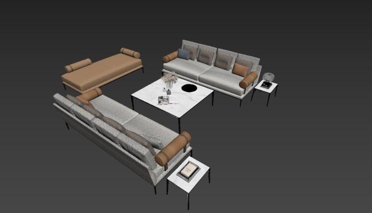 3D Model Sofa By NhatNguyen Free Download (2)