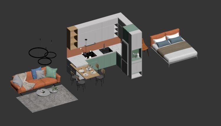 3D decor model File 3dsmax Free Download By Nguyen Quoc Kien