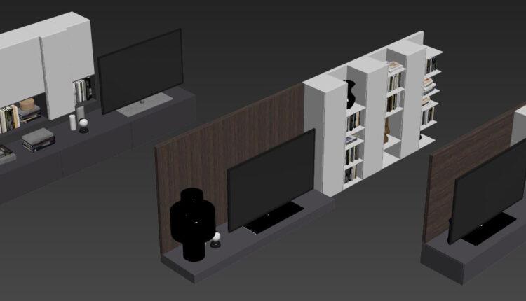 138 TV Cabinet 3dsmax Model Free Download by DoanNguyen