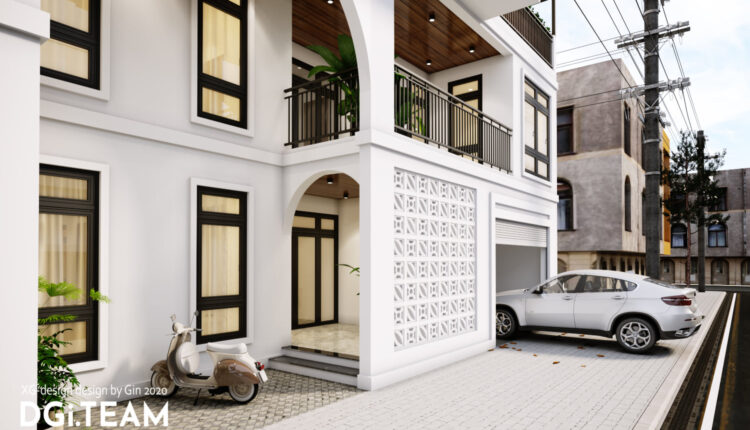 3D Exterior House Scene File 3dsmax By DinhXuanGiang 4