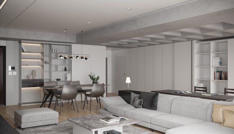 3D Interior Kitchen – Livingroom 119 Scene 3dsmax By VinhVan 1