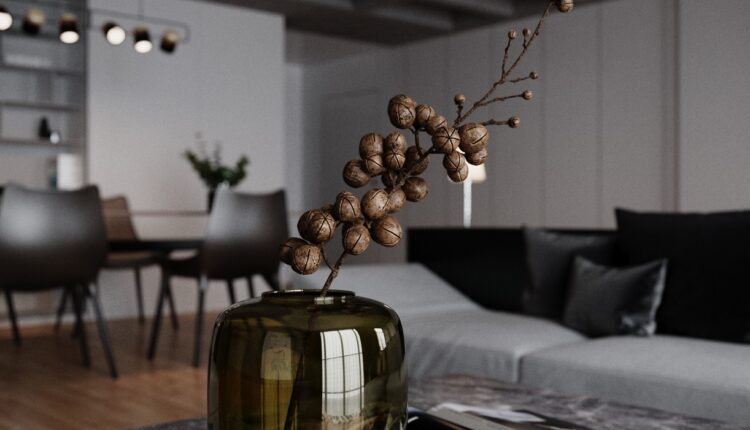 3D Interior Kitchen – Livingroom 119 Scene 3dsmax By VinhVan 3