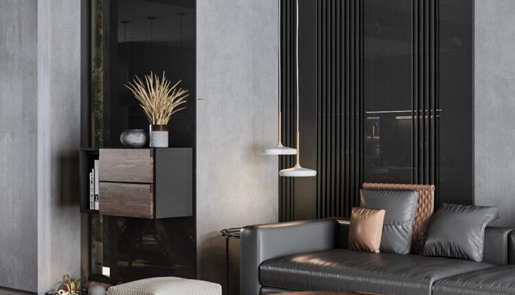 3D Interior Kitchen – Livingroom 123 Scene 3dsmax By ThachPham 1