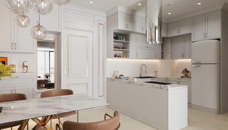 3D Interior Kitchen – Livingroom 125 Scene 3dsmax By NguyenThaiNguyen 4