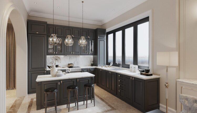 3D Interior Kitchen – Livingroom 129 Scene 3dsmax By QuanBin 2