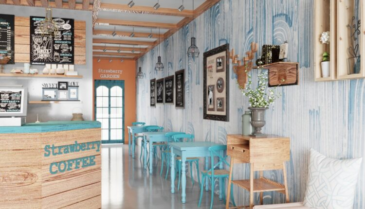 3D Model Interior Coffee 43 Scenes File 3dsmax By Do Thi Huong Ly