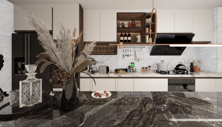 3D Model Kitchen 207 Free Download By LeTaiLinh 1