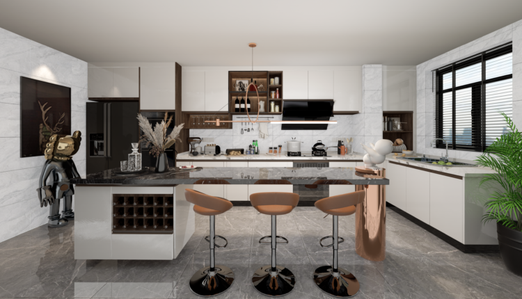 3D Model Kitchen 207 Free Download By LeTaiLinh 2
