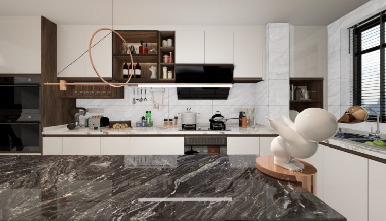 3D Model Kitchen 207 Free Download By LeTaiLinh 4