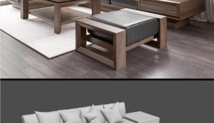 Sofa Dong Gia 3D Model 208 Free Download by Tailieukientruc