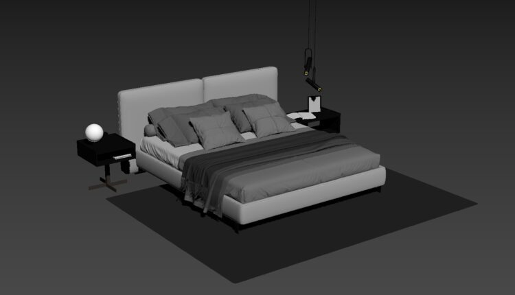 3D Bed Model 198 Free Download 8 (2)