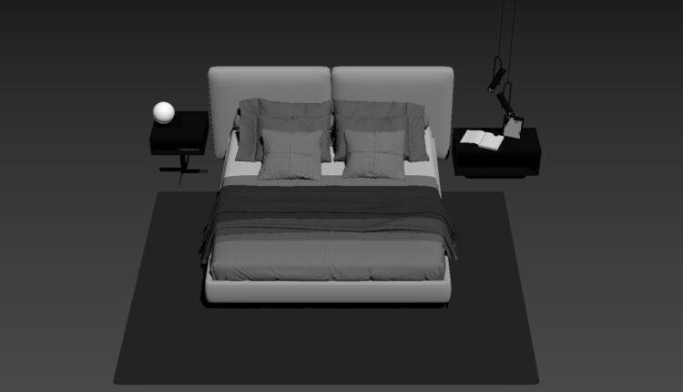 3D Bed Model 198 Free Download 8 (3)