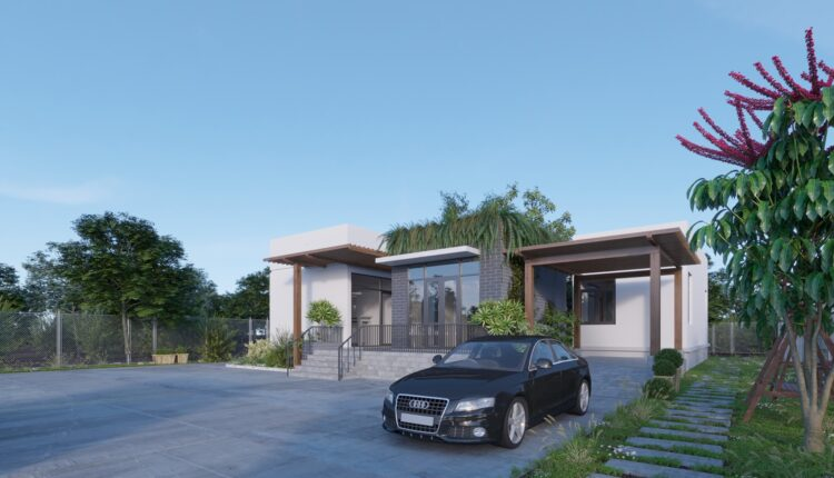 3D Exteriors House 3 Model 3dsmax Free Download By LeoNguyen 4