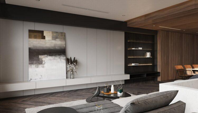 3D Interior Kitchen – Livingroom 138 Scene 3dsmax By Tran An 2