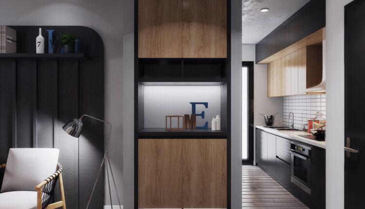 3D Interior Kitchen – Livingroom 145 Scene 3dsmax By LeVietDung 6