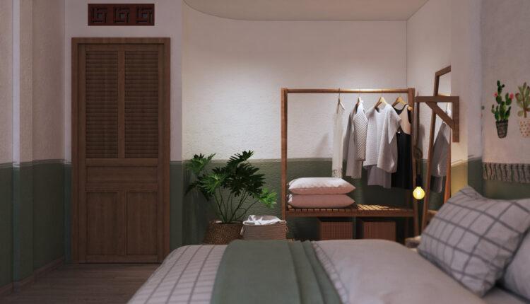 3D Interior Scenes File 3dsmax Model Bedroom 358 By Hoang Thong 3