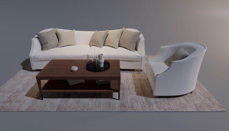 3D Model Caracole Sofa Set 214 Download (1)