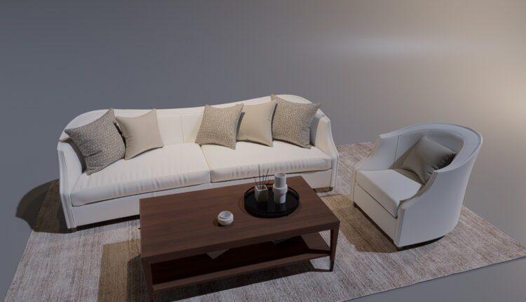 3D Model Caracole Sofa Set 214 Download (2)