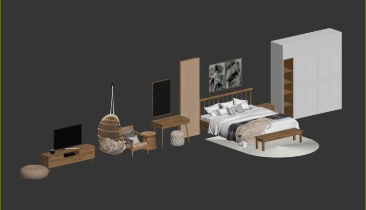 3D Model Furniture Free Download By Phan Thanh Duong