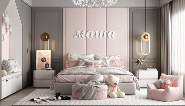 3D Model Interior Children Room 14 Free Download By HuyHieuLee