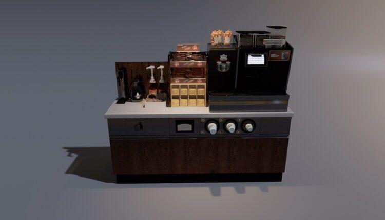 3D Model Kitchen Set for Free Download (1)