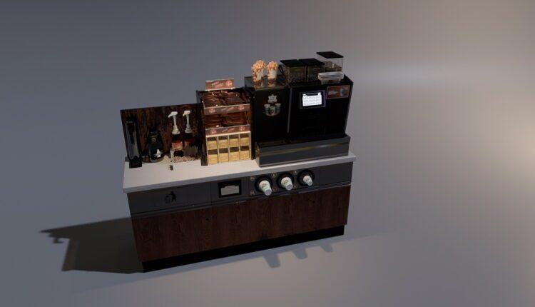 3D Model Kitchen Set for Free Download (2)