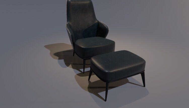 3D Model Minotti ARMCHAIR Free Download (1)