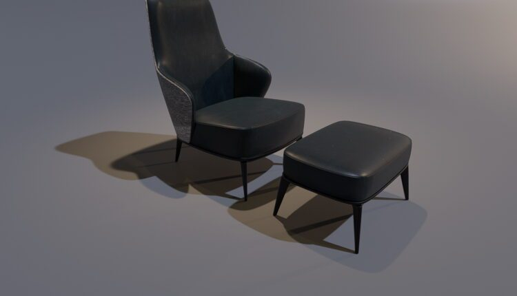 3D Model Minotti ARMCHAIR Free Download (2)