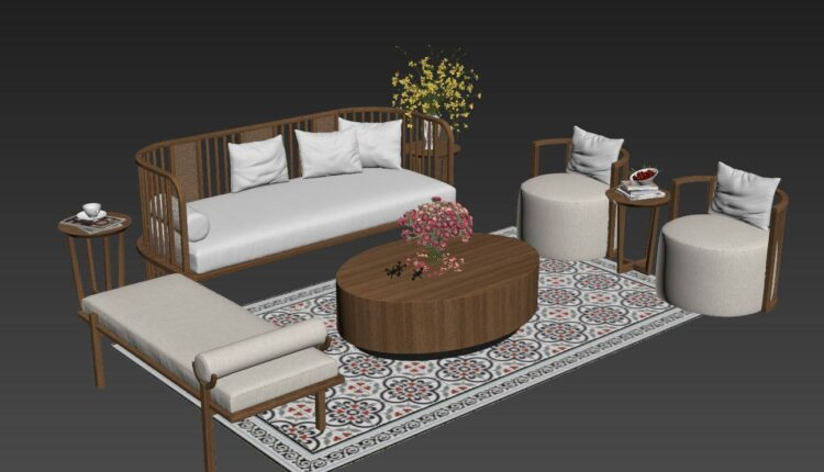 3D Model Sofa Indochine Style 212 By Nguyen Tuan Anh