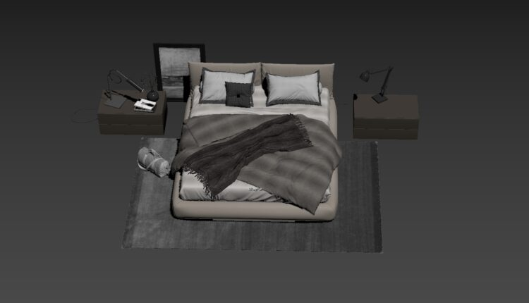 3D Bed Model 201 Free Download-0 (1)
