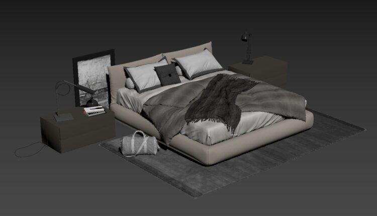 3D Bed Model 201 Free Download-0 (2)