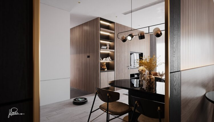 3D Interior Kitchen – Livingroom 158 Scene 3dsmax By Quang Hieu 3