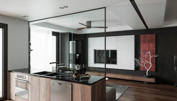 3D Interior Kitchen – Livingroom 165 Scene 3dsmax By Hoang Tung 2