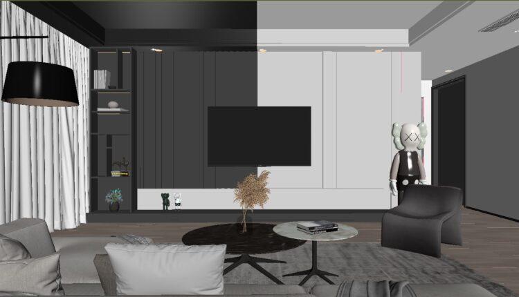 3D Interior Scene File 3dsmax Model Livingroom 446 By Doan Nguyen (1)