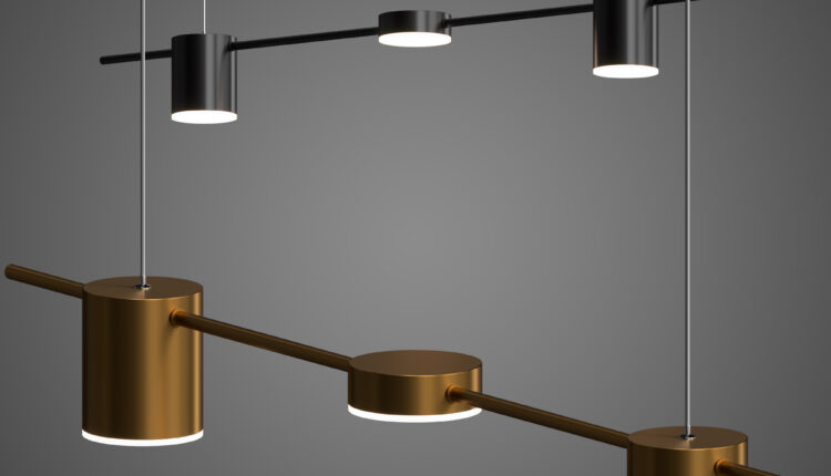 3D Model Chandelier Light Sticks Free Download