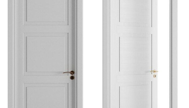 3D Model Classical Hinged Door Free Download