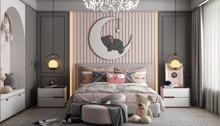 3D Model Interior Children Room 18 Free Download By HuyHieuLee