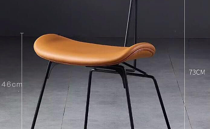 3D Model Leather Seat Wooden Chair By Tran Nghia