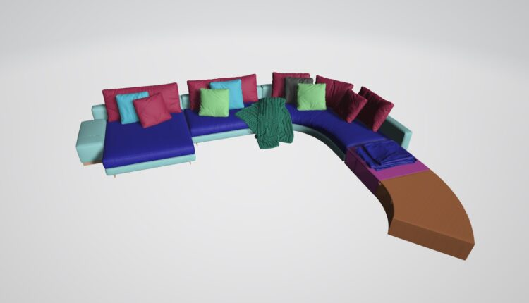 3D Model Sofa 216 Free Download (1)