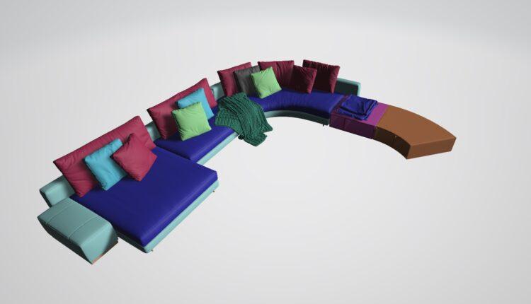 3D Model Sofa 216 Free Download (2)