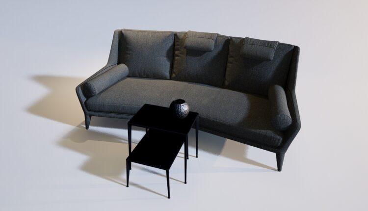 3D Model Sofa 218 Free Download (1)