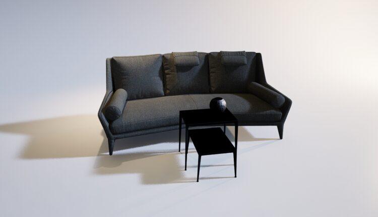 3D Model Sofa 218 Free Download (2)