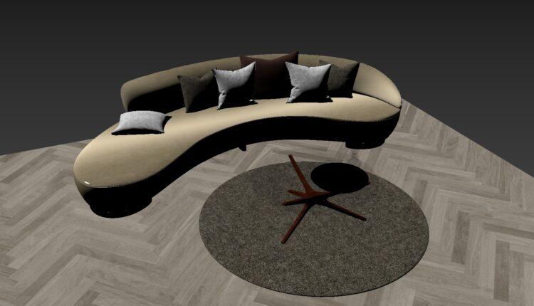 3D Model Sofa 219 Free Download (2)
