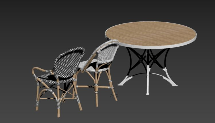 3D Model Table and chairs serena, lily Free Download By HoangMinhTiep (2)