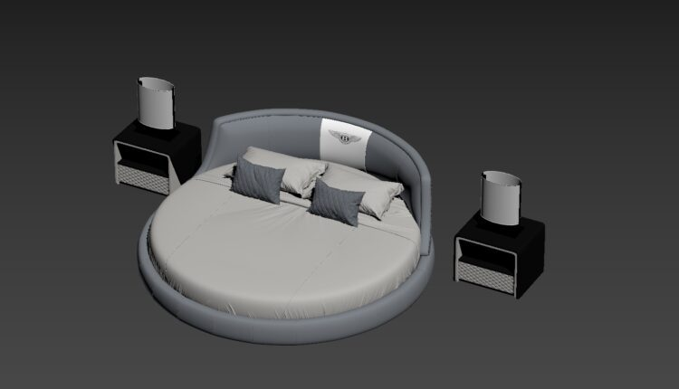 3D Round bed Model 206 Free Download by Cong Thuan-fix (1)