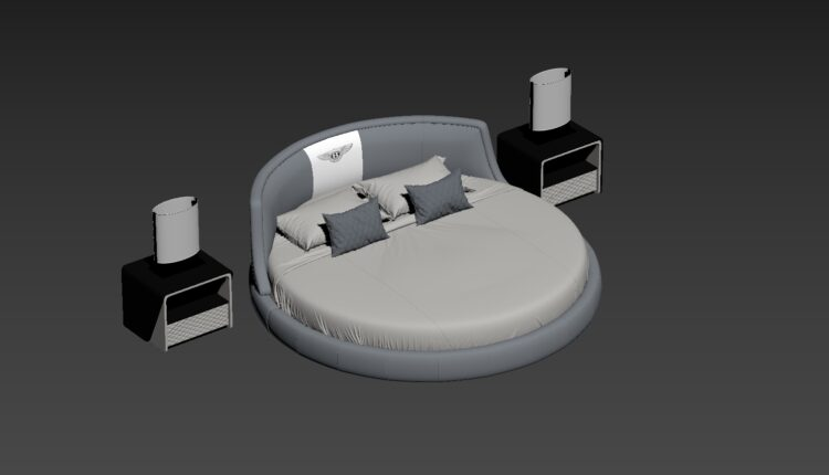 3D Round bed Model 206 Free Download by Cong Thuan-fix (2)