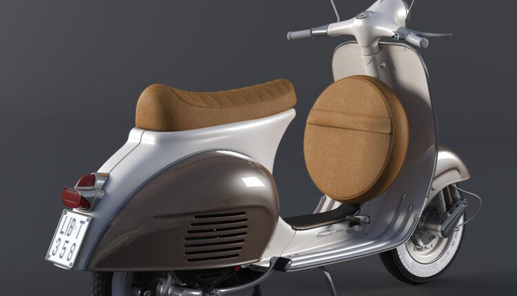 3d Model Vespa VNB 125 Sport Seat By Viet CG (1)