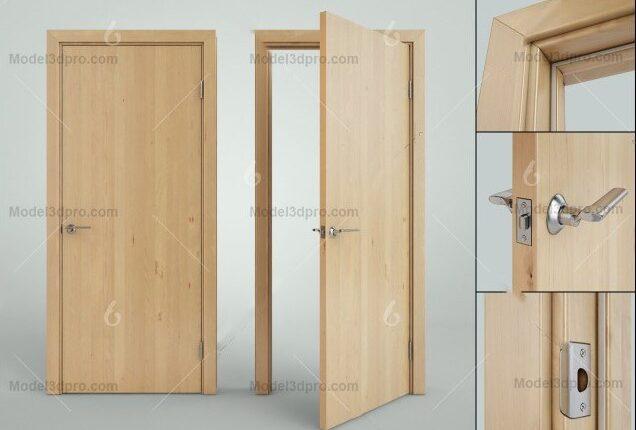 3d Wooden Door Model 52 Free Download