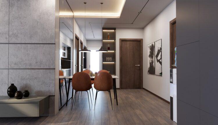 3D Interior Kitchen – Livingroom 191 Scene 3dsmax By Thanh Nguyen 3