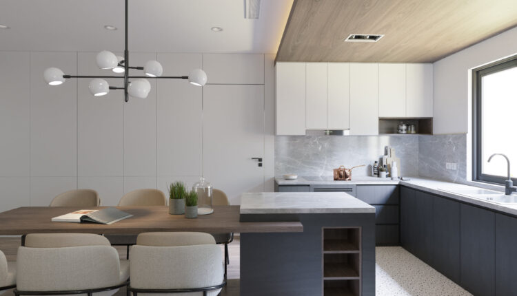 3D Interior Kitchen – Livingroom 197 Scene 3dsmax By Tien Trung 4
